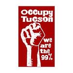 Occupy Tucson bumper sticker with fist