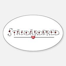 Standardbred Hearts Sticker (Oval)