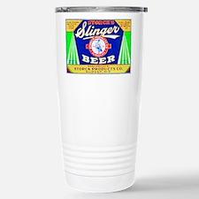 Wisconsin Beer Label 12 Stainless Steel Travel Mug