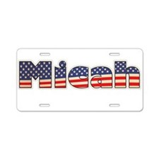 American Micah Aluminum License Plate