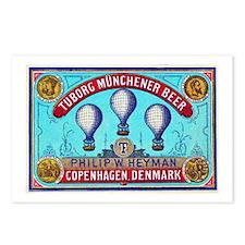 Denmark Beer Label 2 Postcards (Package of 8)