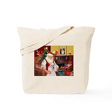 Santa's Poodle (ST-W1) Tote Bag