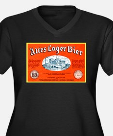 Michigan Beer Label 12 Women's Plus Size V-Neck Da