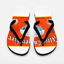 Michigan Beer Label 12 Flip Flops