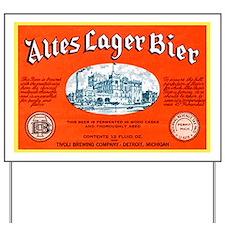 Michigan Beer Label 12 Yard Sign