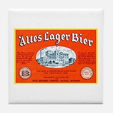 Michigan Beer Label 12 Tile Coaster