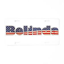 American Belinda Aluminum License Plate