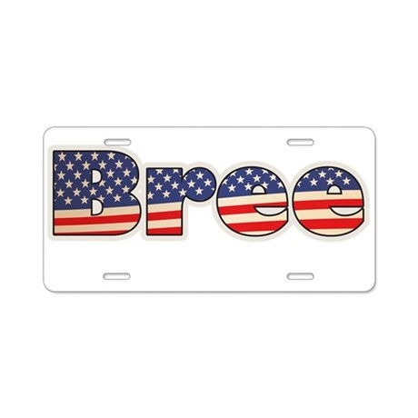 American Bree Aluminum License Plate
