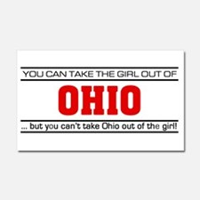 'Girl From Ohio' Car Magnet 20 x 12