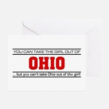 'Girl From Ohio' Greeting Card