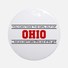 'Girl From Ohio' Ornament (Round)