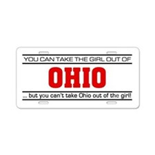 'Girl From Ohio' Aluminum License Plate