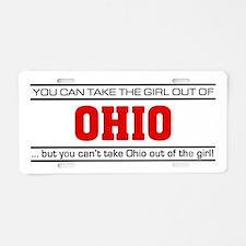 'Girl From Ohio' Aluminum License Plate