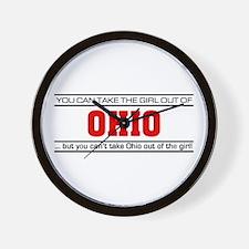 'Girl From Ohio' Wall Clock