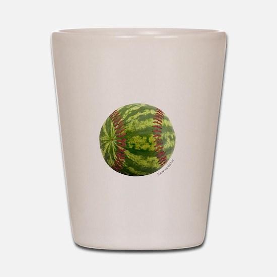 Baseball Melon Shot Glass
