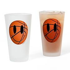 Basketball Smiley Drinking Glass
