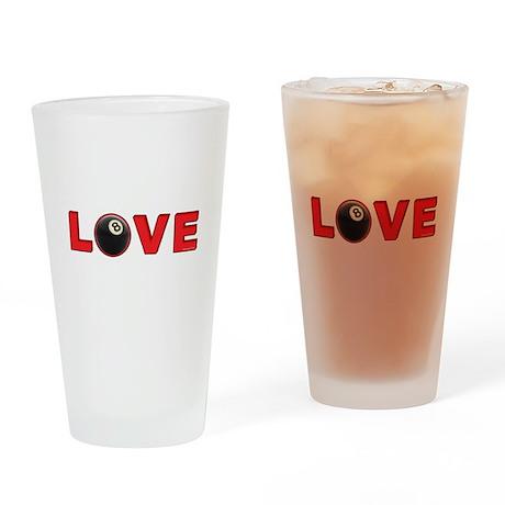 Billiard Love 3 Drinking Glass