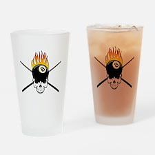 Skull Billiards Drinking Glass