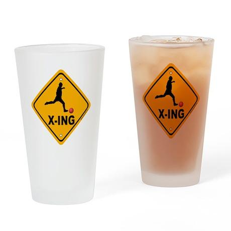 Kickball X-ing Drinking Glass