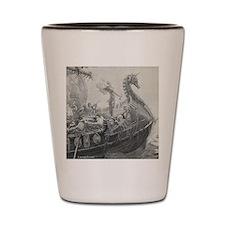 Cute Vintage sail ship Shot Glass