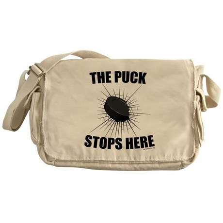 Puck Stops Messenger Bag