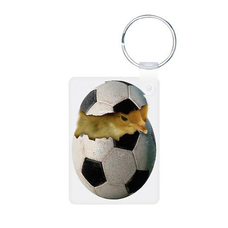 Soccer Chick Aluminum Photo Keychain