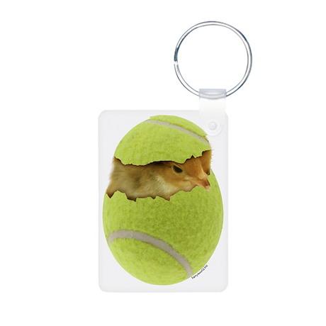 Tennis Chick Aluminum Photo Keychain