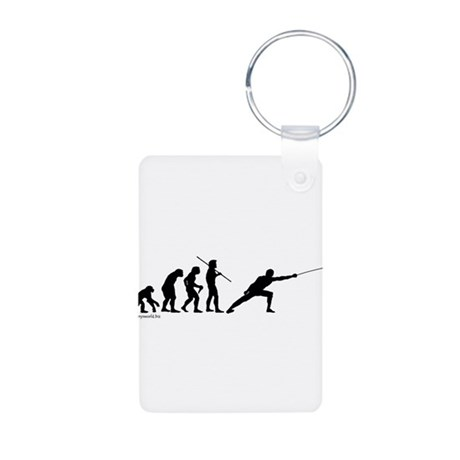 Fencing Evolution Aluminum Photo Keychain