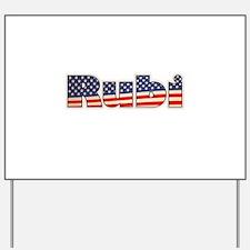 American Rubi Yard Sign