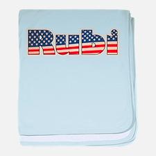 American Rubi baby blanket