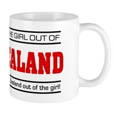 'Girl From New Zealand' Small Mugs