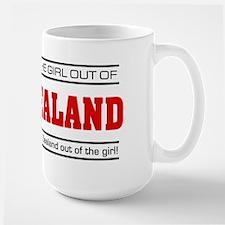 'Girl From New Zealand' Large Mug