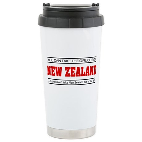 'Girl From New Zealand' Stainless Steel Travel Mug