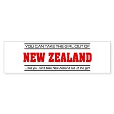 'Girl From New Zealand' Bumper Bumper Sticker