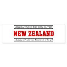 'Girl From New Zealand' Bumper Sticker