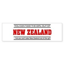 'Girl From New Zealand' Car Sticker