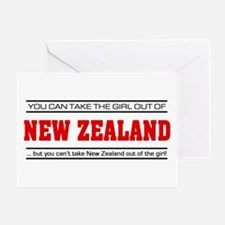 'Girl From New Zealand' Greeting Card