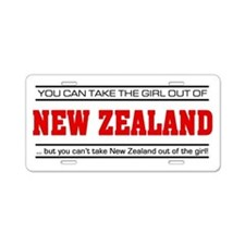 'Girl From New Zealand' Aluminum License Plate