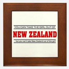 'Girl From New Zealand' Framed Tile
