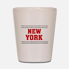'Girl From New York' Shot Glass