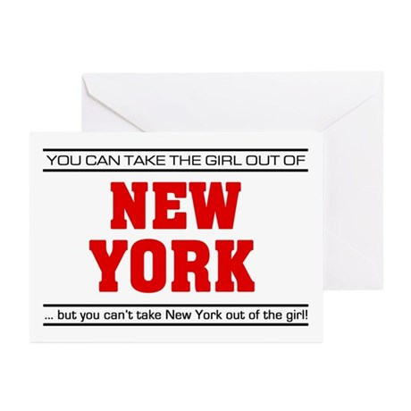 'Girl From New York' Greeting Cards (Pk of 10)