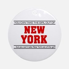 'Girl From New York' Ornament (Round)