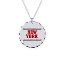 'Girl From New York' Necklace Circle Charm