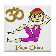 Yoga Chica Tile Coaster