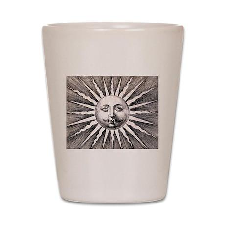 Antique Sun Shot Glass