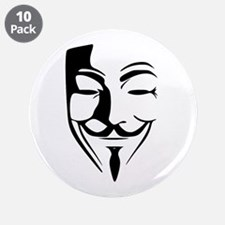 "Fawkes Silhouette 3.5"" Button (10 pack)"