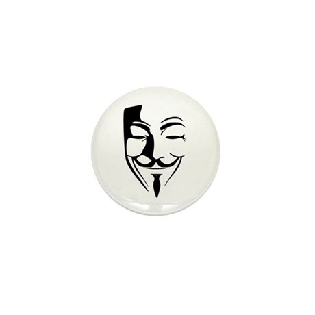 Fawkes Silhouette Mini Button (100 pack)
