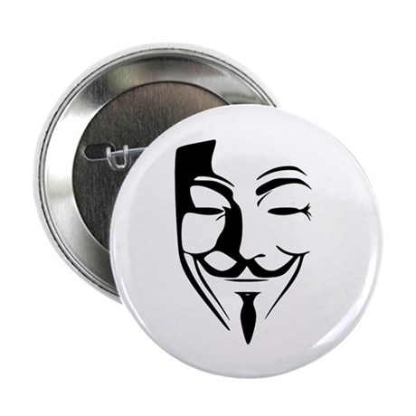 "Fawkes Silhouette 2.25"" Button (100 pack)"
