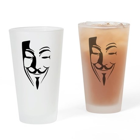 Fawkes Silhouette Drinking Glass
