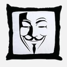 Fawkes Silhouette Throw Pillow